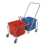 Picture of 20L RHINO DOUBLE BUCKET TROLLEY-NO WRINGER