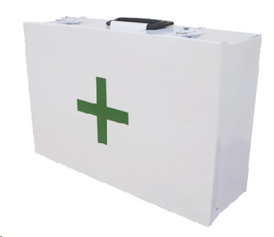 Picture of FIRST AID WHITE METAL BOX