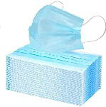 Picture of FACE MASK 3PLY DISPOSABLE BLUE *50's