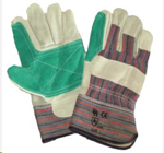 Picture of GLOVE SUPER Rigger reinforced GREEN palm & candy