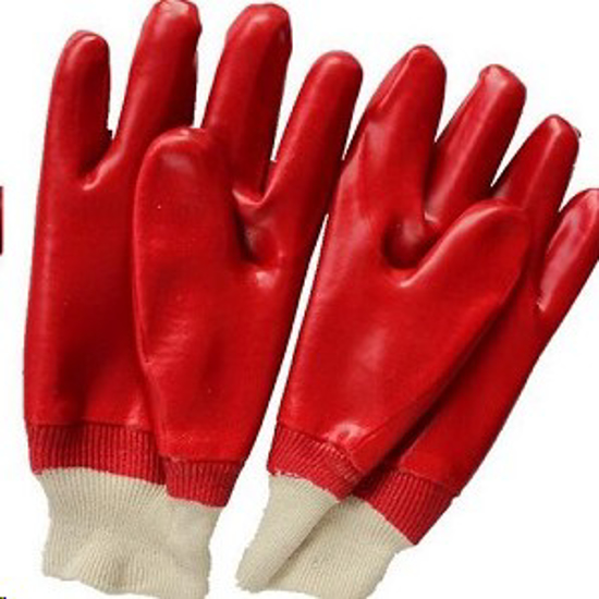 Picture of GLOVE PVC Standard RED,Knitted Wrist *