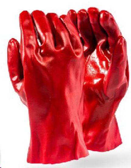 Picture of GLOVE PVC Standard RED,Open cuff *