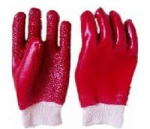 Picture of GLOVE PVC Rough terry RED,knit wrist *