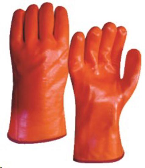 Picture of GLOVE FREEZER Orange PVC, Gauntlet, 30cm *