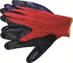 Picture of GLOVE PIONEER RED SHELL BLACK NITRILE DIP