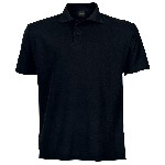 Picture of PIQUE KNIT GOLFER MENS BLACK 175G
