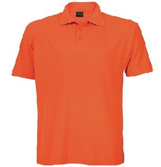 Picture of PIQUE KNIT GOLFER MENS ORANGE 175G