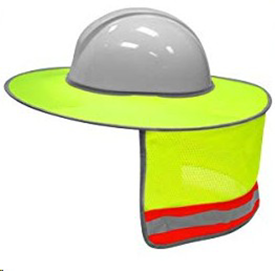 Picture of HARD HAT BRIMS LIME WITH REF