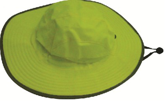Picture of HATS CRICKET *LIME REFLECTIVE WITH DRAWSTRING *L
