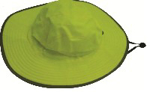 Picture of HATS CRICKET *LIME REFLECTIVE WITH DRAWSTRING *M