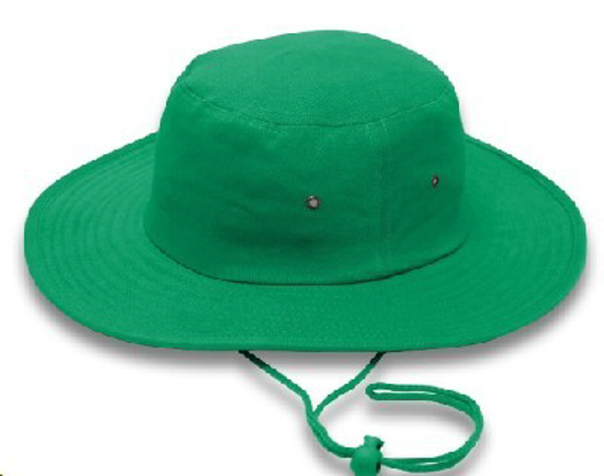 Picture of HATS CRICKET DRAWSTRING EMERALD *L/XL 60CM