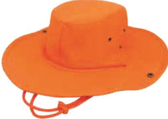 Picture of HATS CRICKET DRAWSTRING ORANGE *S/M 57CM