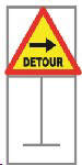 Picture of ROADSIGN DETOUR RIGHT *600X600