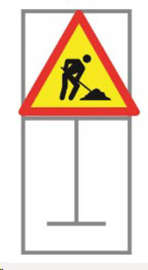 Picture of ROADSIGN MEN AT WORK COMPLETE *900X900
