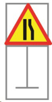 Picture of ROADSIGN NARROW TO LEFT *900X900