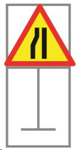 Picture of ROADSIGN NARROW TO RIGHT *900X900