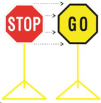 Picture of ROADSIGN STOP AND GO COMPLETE *750X750