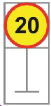 Picture of ROADSIGN SPEED LIMIT 20KM *600X600