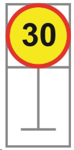 Picture of ROADSIGN SPEED LIMIT 30KM *600X600