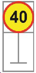 Picture of ROADSIGN SPEED LIMIT 40KM *600X600