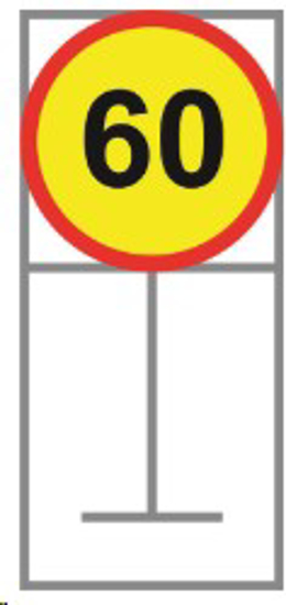 Picture of ROADSIGN SPEED LIMIT 60KM *600X600