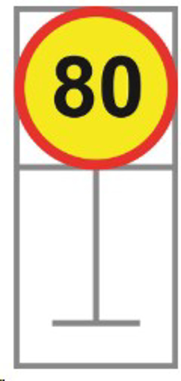 Picture of ROADSIGN SPEED LIMIT 80KM *600X600