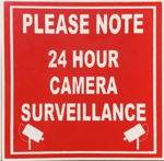 Picture of SIGN-24 HOUR CAMERA SURVEILANCE *190