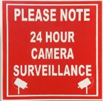 Picture of SIGN-24 HOUR CAMERA SURVEILANCE *290