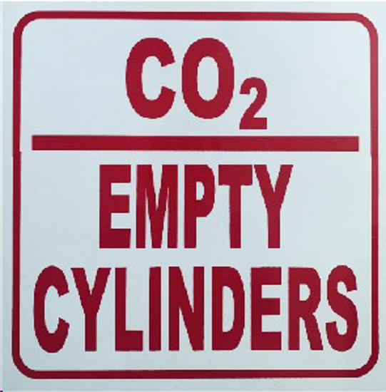 Picture of SIGN-CO2 EMPTY CYLINDERS *290