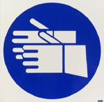 Picture of SIGN-HAND PROTECTION SHALL BE WORN *290
