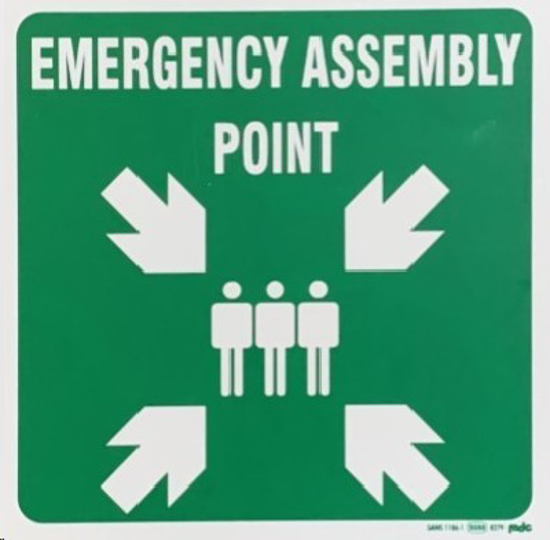 Picture of SIGN-EMERGENCY ASSEMBLY POINT *290