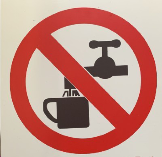Picture of SIGN-NO DRINKING OF WATER *190