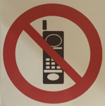Picture of SIGN-NO CELLPHONES *290