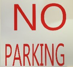 Picture of SIGN-NO PARKING LETTERING *290