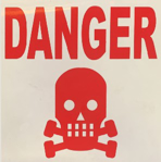 Picture of SIGN-DANGER RED SKULL *290