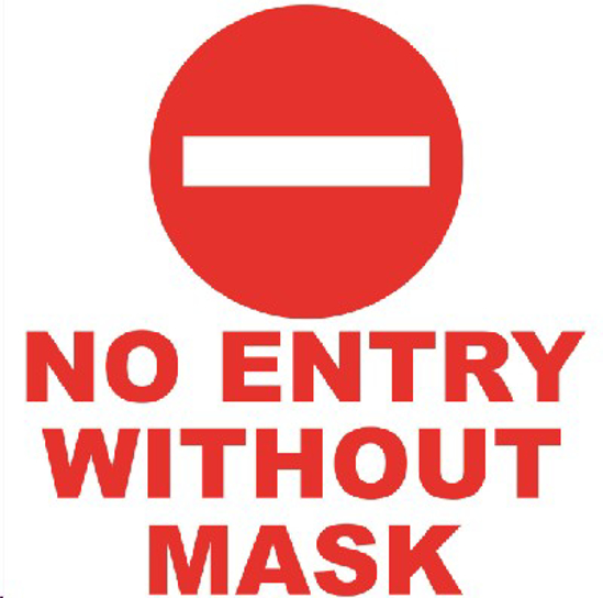 Picture of SIGN-NO ENTRY WITHOUT MASK *290