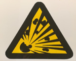 Picture of SIGN-BEWARE OF EXPLOSION HAZARD *190