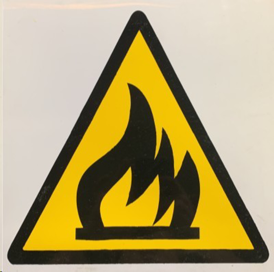 Picture of SIGN-WARNING OF FIRE HAZARD *190