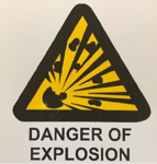 Picture of SIGN-BEWARE OF EXPLOSION HAZARD *290