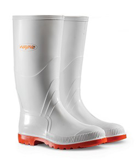 Picture of WAYNE 1030 GUMBOOT WHITE/RED