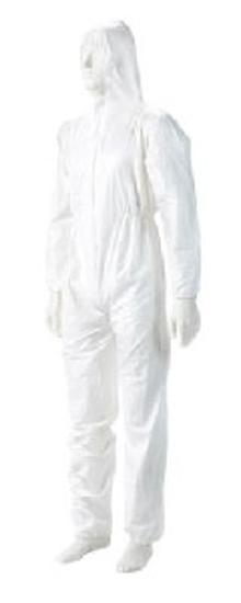 Picture of DISPOSABLE OVERALLS WHITE