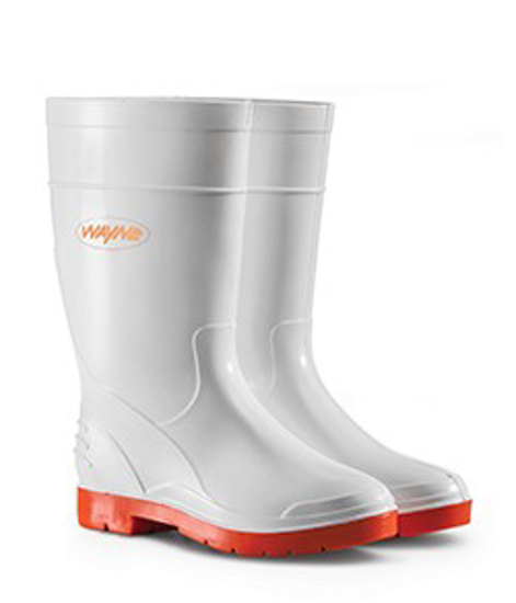 Picture of WAYNE 1681 GUMBOOT LADIES CALF WHITE/RED