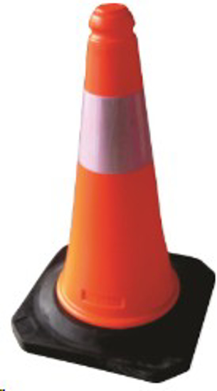 Picture of TRAFFIC CONES PLASTICK W BLK BASE *500MM
