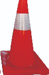 Picture of TRAFFIC CONE SOFT PVC REFLECTIVE *450MM