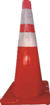 Picture of TRAFFIC CONE SOFT PVC REFLECTIVE *750MM