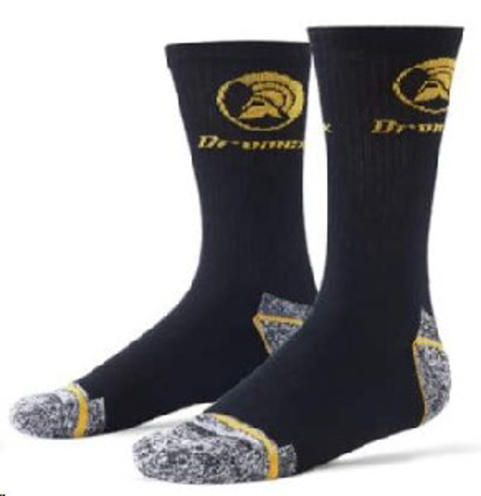 Picture of SOCK WORK BLACK DF9160 *4-7